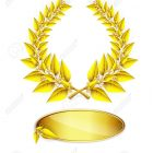 14743521-Gold-laurel-wreath-and-label-for-jubilee-text-on-white-background-Stock-Vector